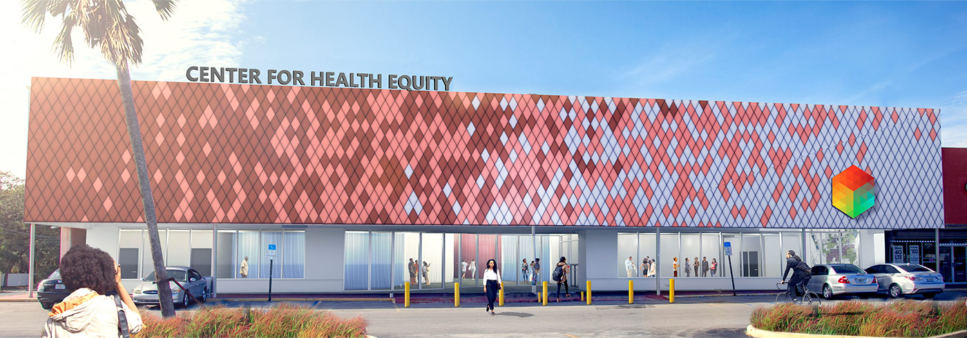 Exterior shot of the Center for Healthy Equity, St. Petersburg, Florida